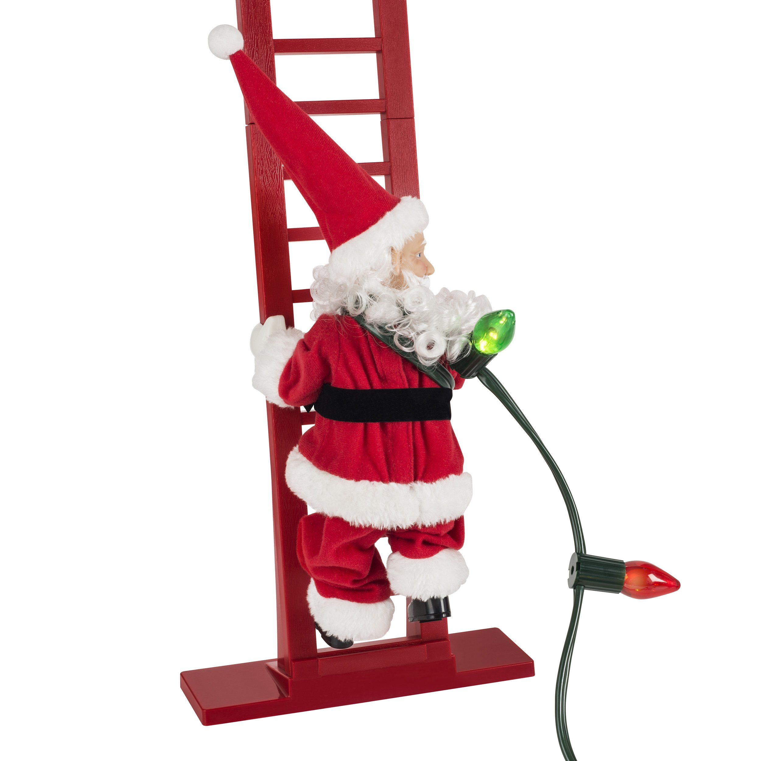 50%OFF-Mr. Christmas Super Climbing Santa Holiday Decor, Red