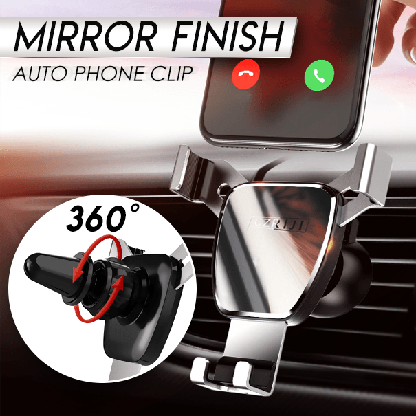 Mirror Finish Auto Phone Clip