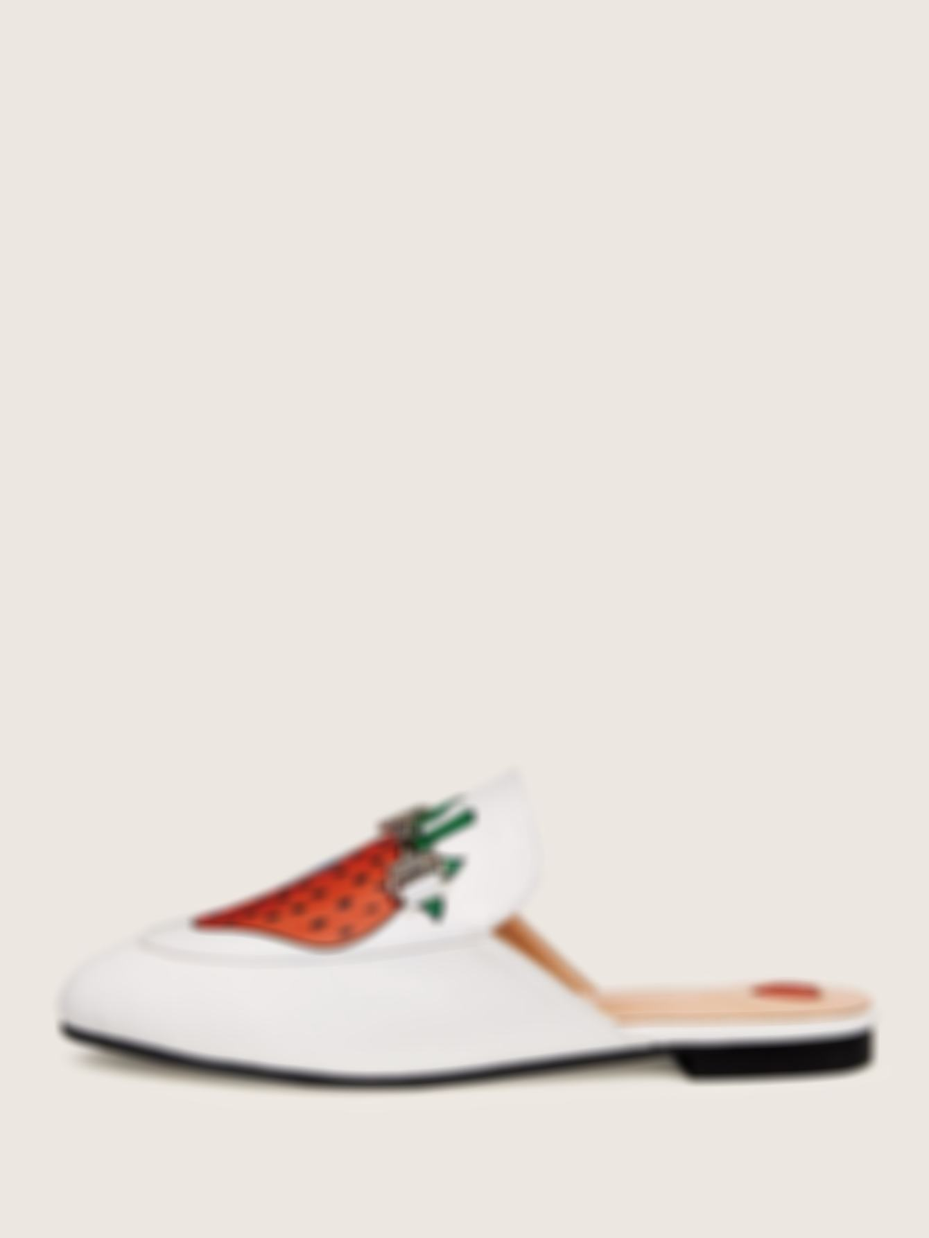 Strawberry Print Flat Mules