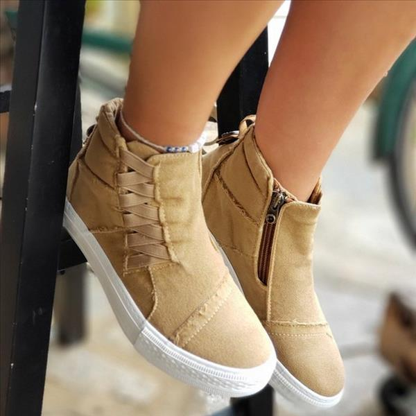 Twinklemoda Casual Daily High Top Stylish Flat Sneakers