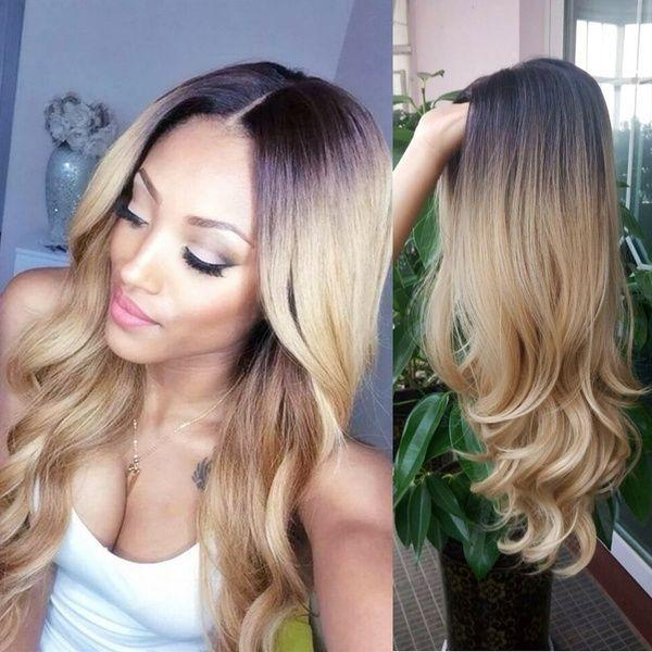 2020 Fashion Ombre Blonde Wigs 613 360 Lace Wig