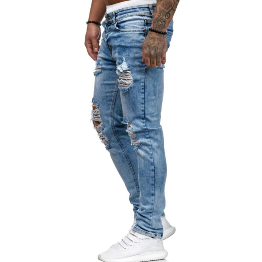 Fashion Ripped Holes Jeans