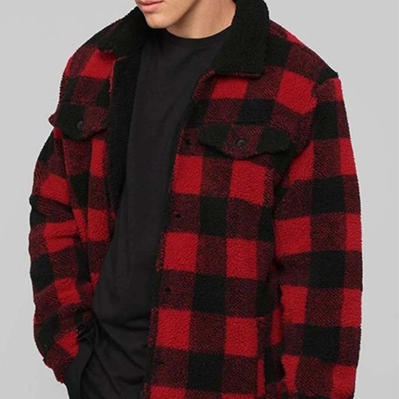 Men's plaid jacket