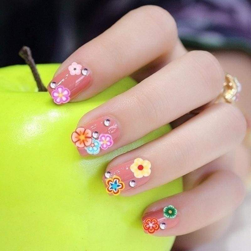 1000pcs/pack 3D Fruit Flowers Feather Design Tiny Fimo Slices Polymer Clay DIY Girls Toys nails Stickers