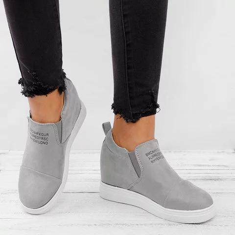 Women Fashion Slip On Wedge Sneakers