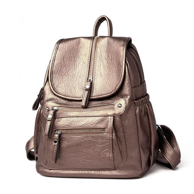 Casual Large Capacity Soft Backpack Vintage High Quality School Backpacks