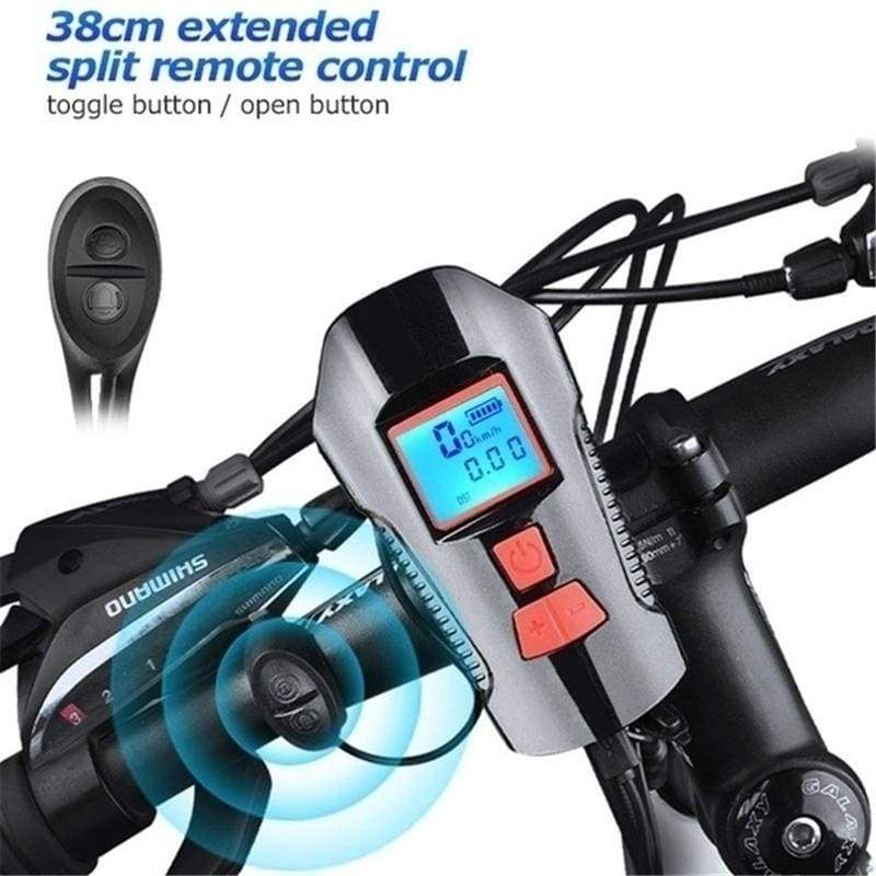 Bicycle Headlight USB Rechargeable, 4 Modes Led Bike Front Lights with Speedometer Odometer Super Bright Waterproof Multi Function Cycle Torch