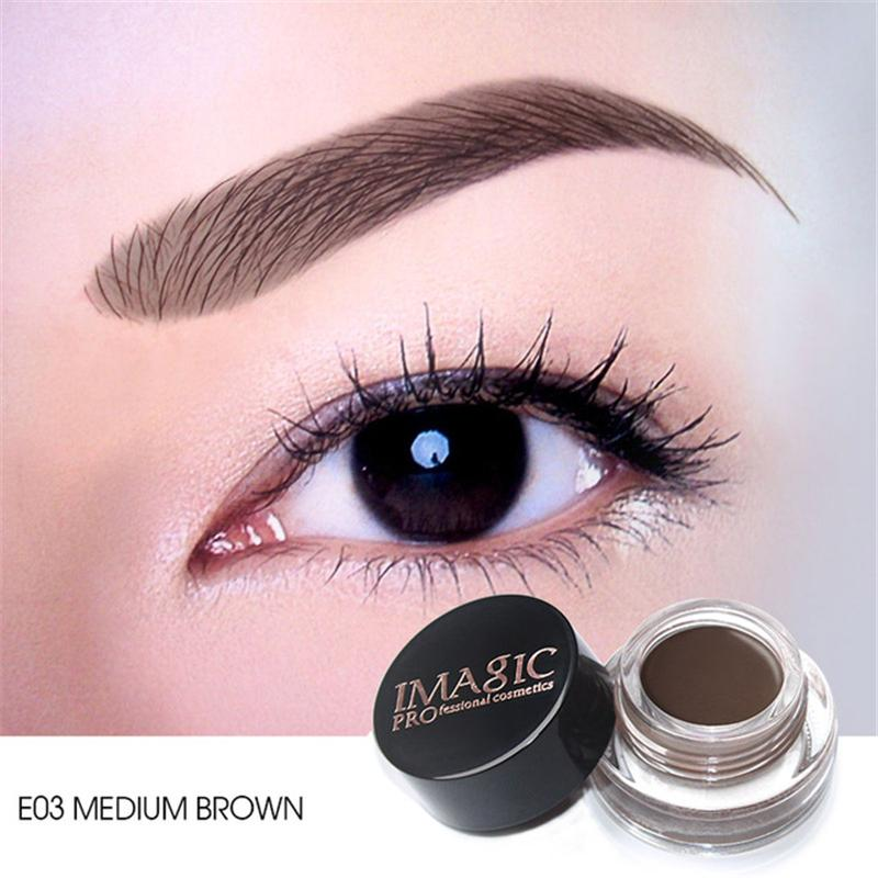 6 Colors Eyebrow Mascara with Brush Tool Waterproof