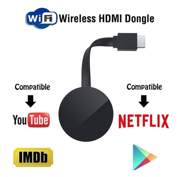 WiFi Display HD TV Screen Mirroring TV Wireless Dongle For Google Chromecast 2 For Netflix YouTube Crome Chrome Cast Cromecast
