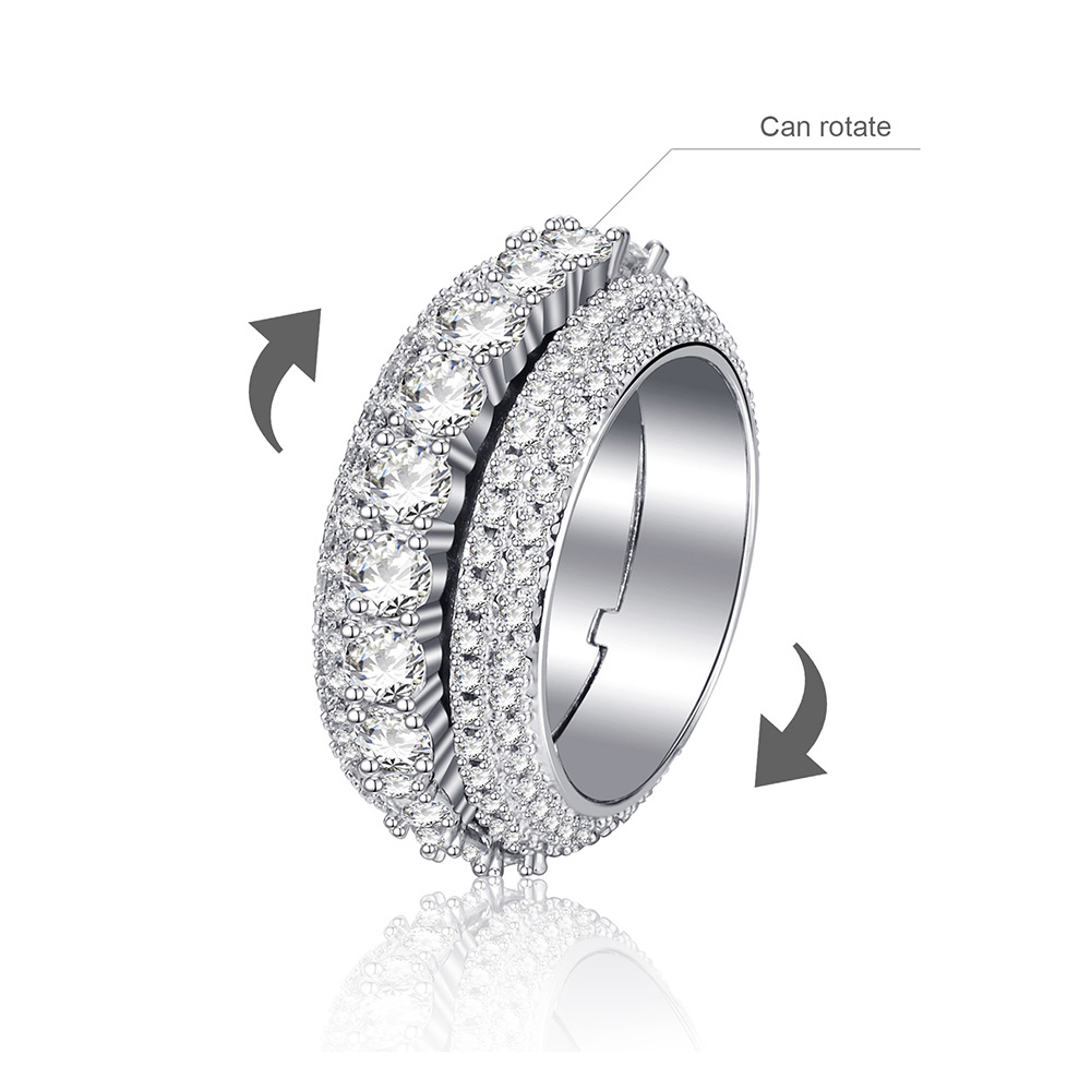 Titanium Steel Gear Ring, Keep Spinning And Release Stress