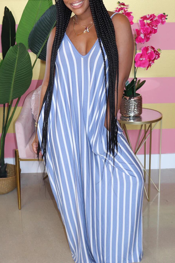 Casual Striped Loose Sling Dress