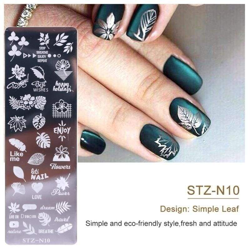 2pcs Nail Art Stamp Nail Stamping Template Flower Geometry Animals DIY Nail Designs Manicure Image Plate Stencil