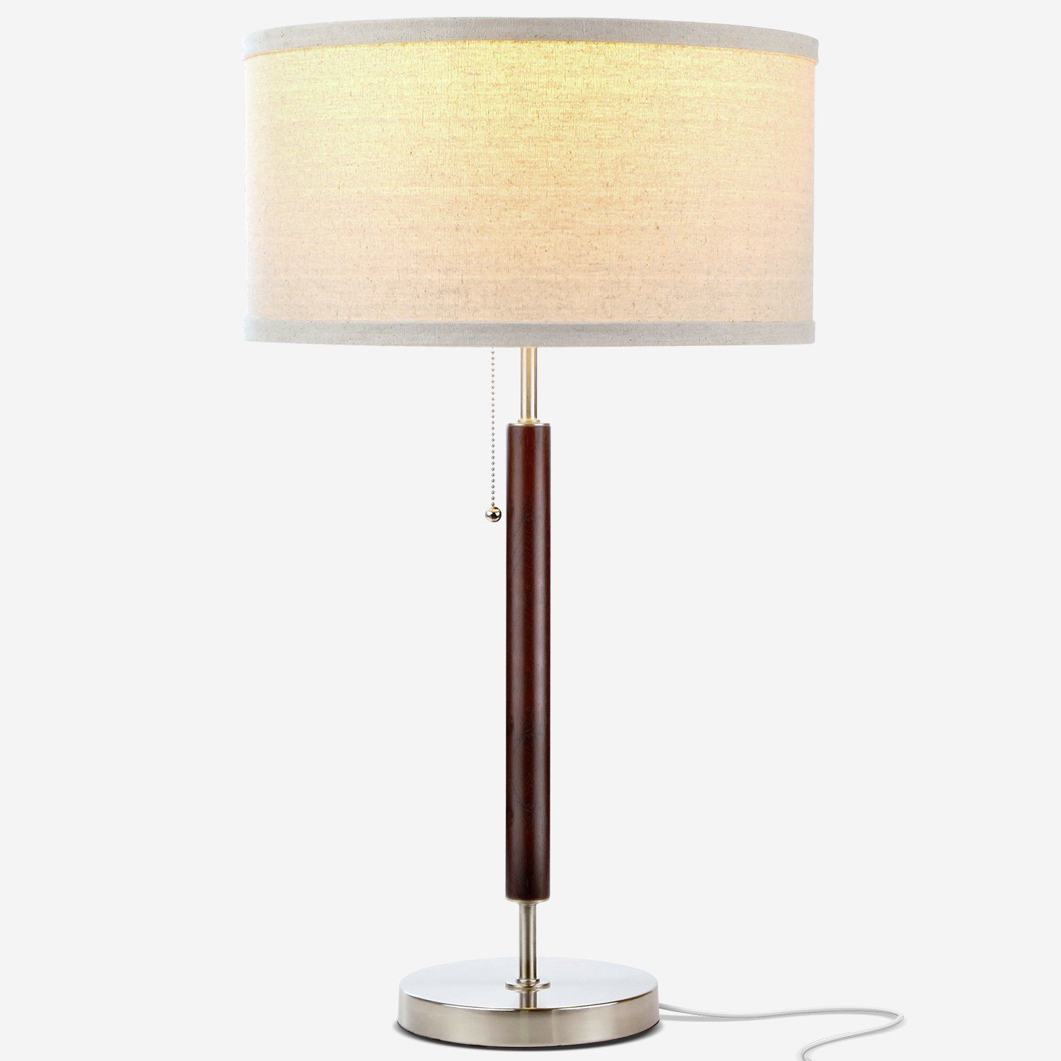 Carter Desk - LED Side Table, Nightstand & Desk Lamp - Wood Finish
