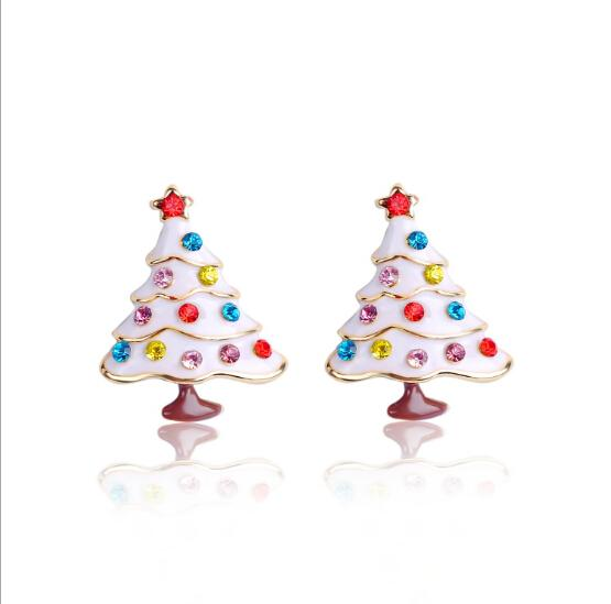 Santa Claus Christmas Earrings Snowman Deer Christmas Tree Ear Jewelry Accessories Lovely Xmas Gifts for Women Girls