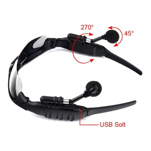 Trendy Sunglasses Bluetooth Earphone Outdoor Sport Glasses Wireless Headset with Mic