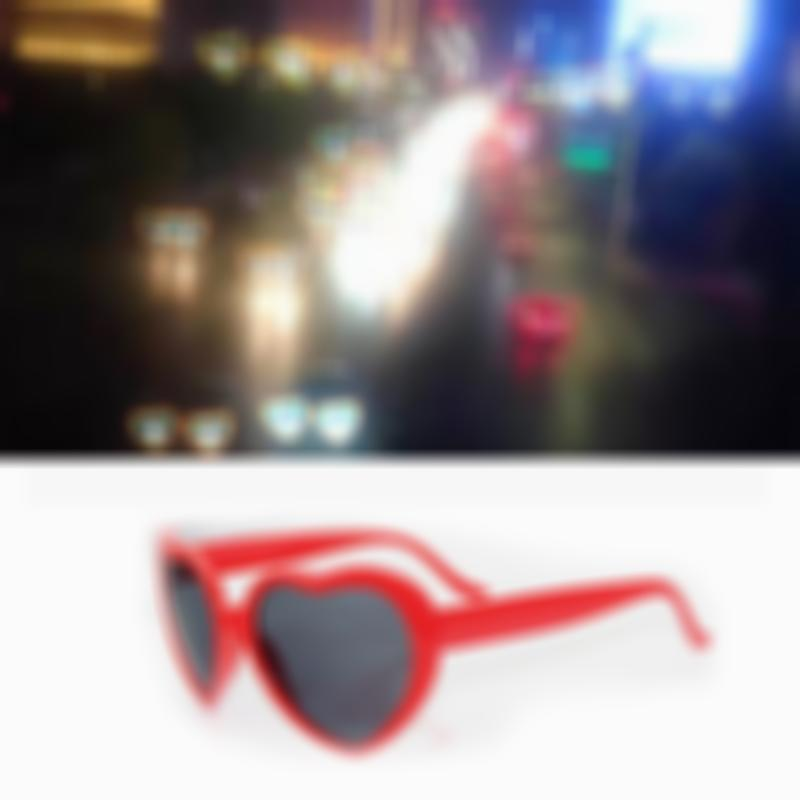 Heart Effect Diffraction Glasses  - Special Effect Rave EDM Festival Light Changing Eyewear
