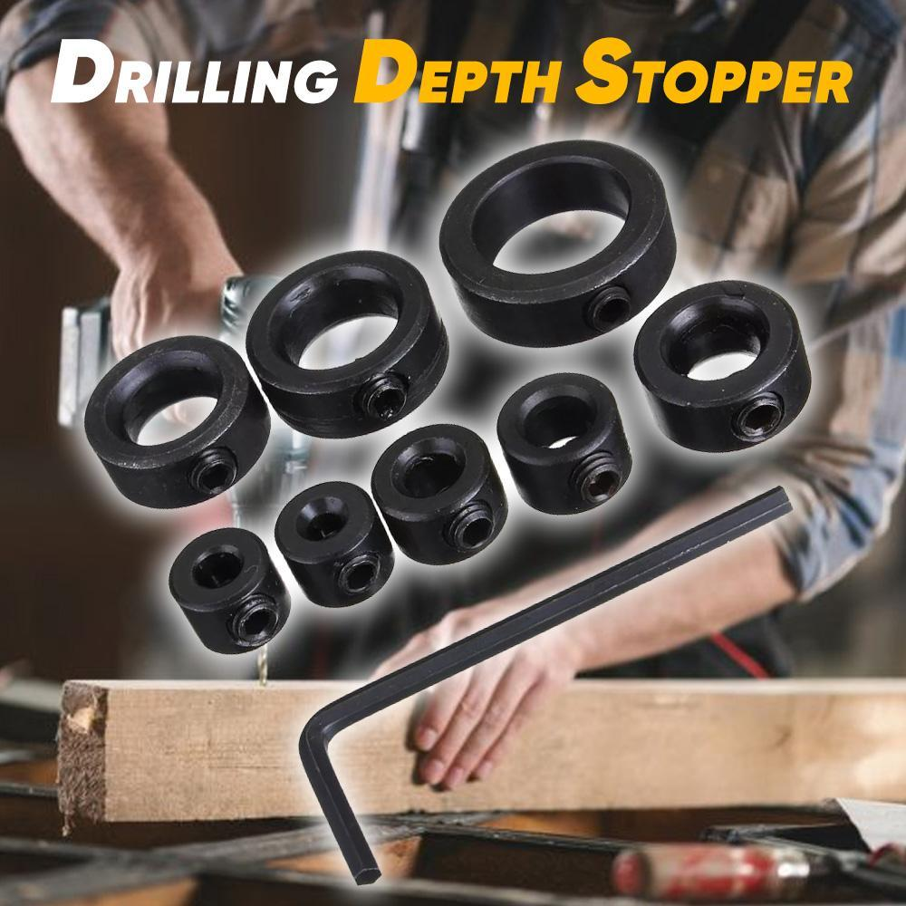 Drill Depth Stop Collars 8 pieces 3-16mm