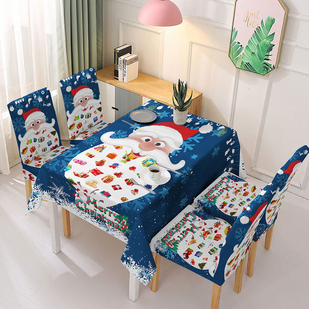 Christmas tablecloth chair cover decoration One piece chair cover cover waterproof tablecloth