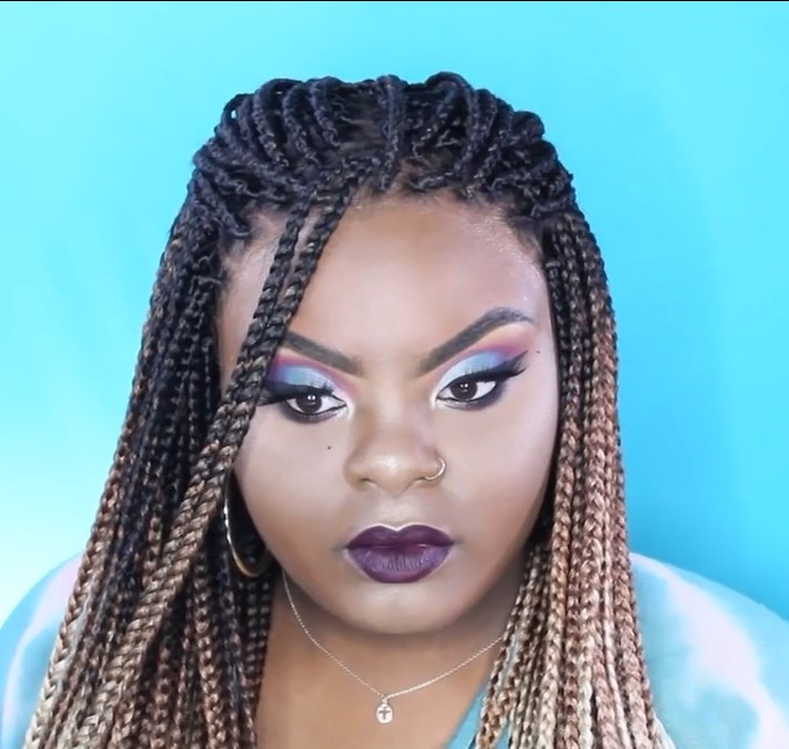 100% Hand-Braided Ombre Box Braid Wig| Pre-plucked hairline丨Beginner Friendly