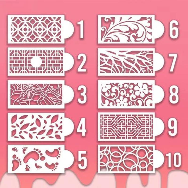 Higomore™ Pattern Totem Stencils For Cakes