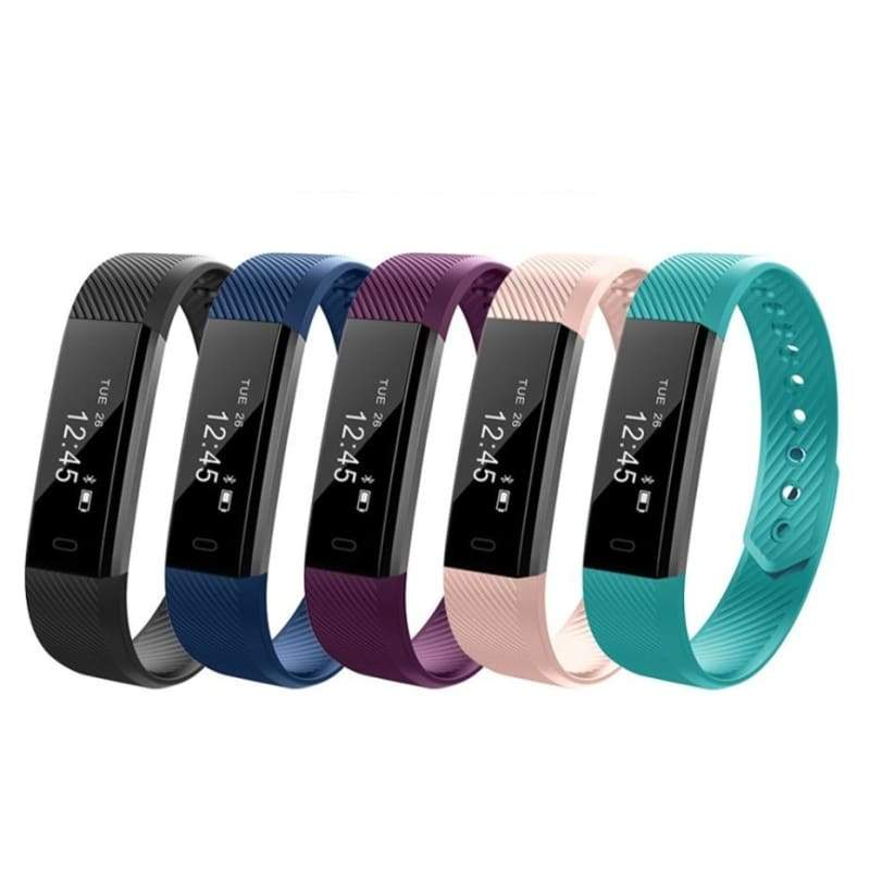 Smart Wristband Fitness Tracker Band Bluetooth Sleep Monitor Watch Sport Bracelet