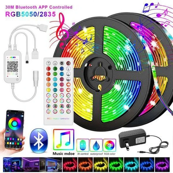 【Winter Promotion 50% OFF 】- RGB LED Strip Lights (Remote Control Included)