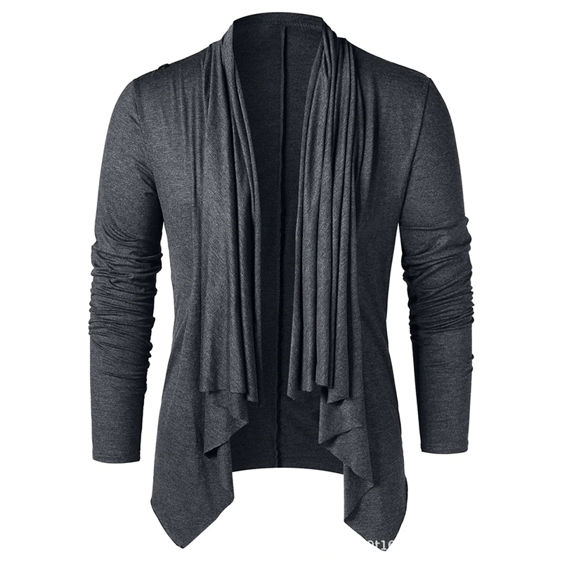 Fashion solid color men's long sleeve