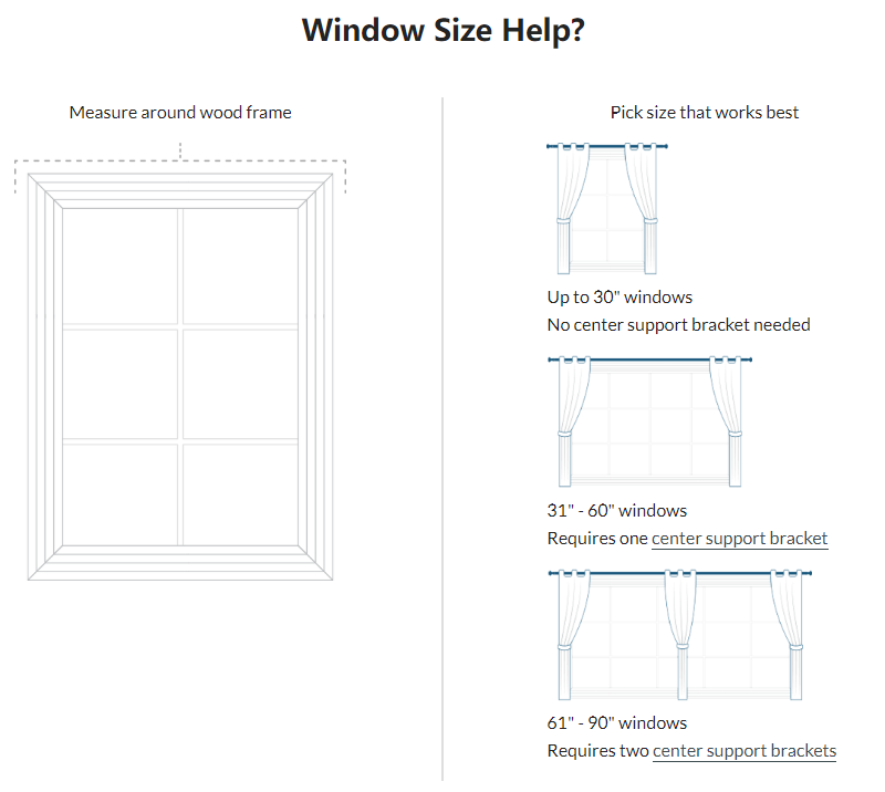 Standard Window Curtain Rod Size The Best Image Of