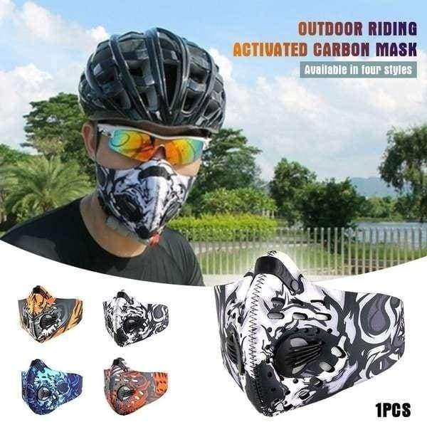 Bicycle Motorcycle Ski Cycling Anti-pollution Face Mask Outdoor Sports Mouth-muffle Dustproof Filter Activated Carbon PM 2.5