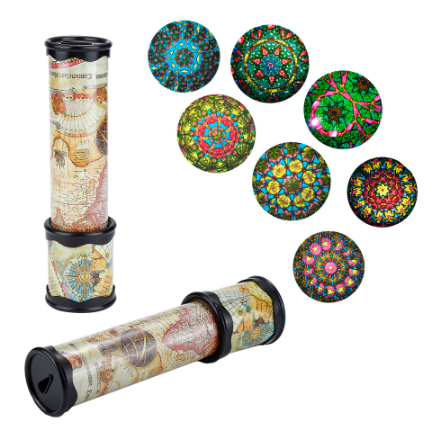 Scalable rotating kaleidoscope magic changeable adjustable fancy colorful world children toys Autistic children educational toys 21/30cm