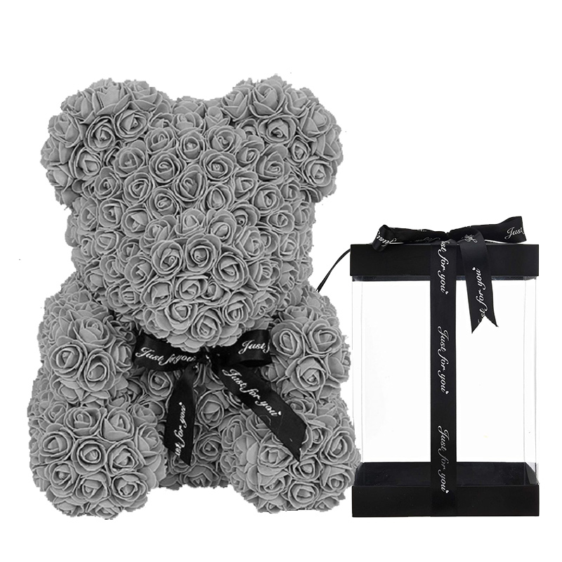 Pink Luxury Rose Teddy Bear with Gifts Box & LED Lights
