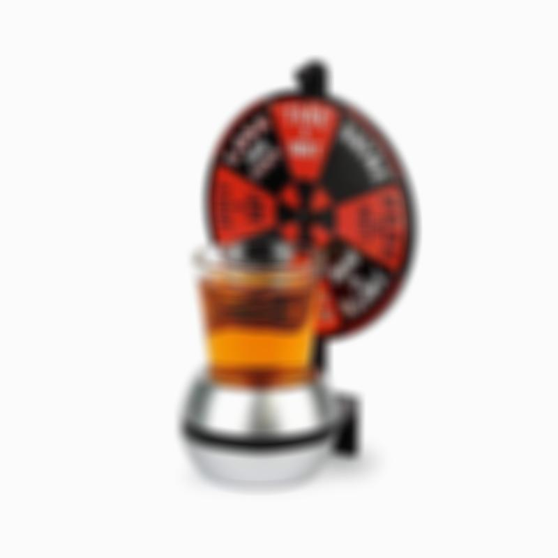 Rotating Spin-the-Wheel Drinking Game for Entertaining/Parties/Tailgating
