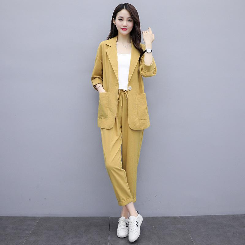 Summer thin large size suit