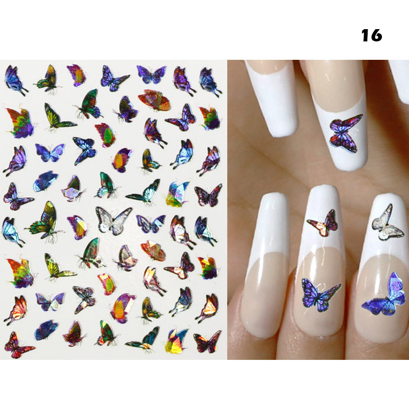 3D Colorful Butterfly Nail Art Stickers