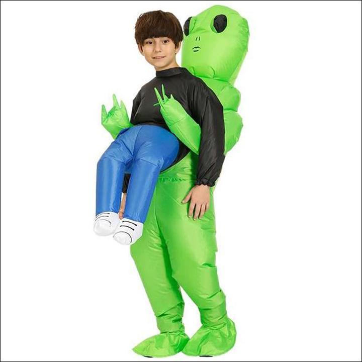Alien Pick Me Up Inflatable Blow Up Costume-Free Shipping Today