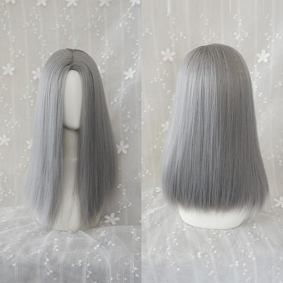 2020 New Gray Hair Wigs For African American Women Medical Wigs Long Grey Hair Going Gray Wigs For 80 Year Old Woman Store Pink Wigs