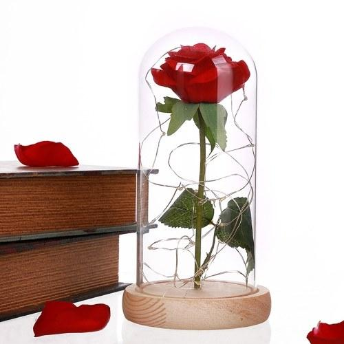 Glass Cover Internal Rose DIY Decoration Lamp