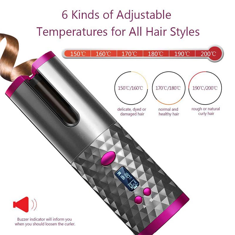(Limited Time Discount)Auto Rotating Ceramic Hair Curler