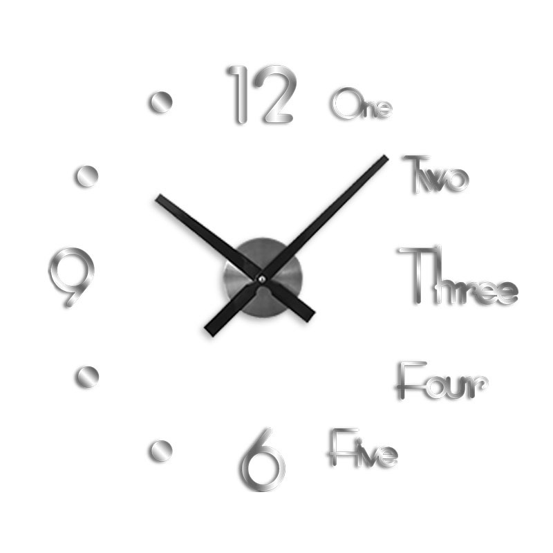 Diy big wall clock modern design(16inches) and (30 inches)(If you want to buy the big size in the video, we recommend 30 inches)