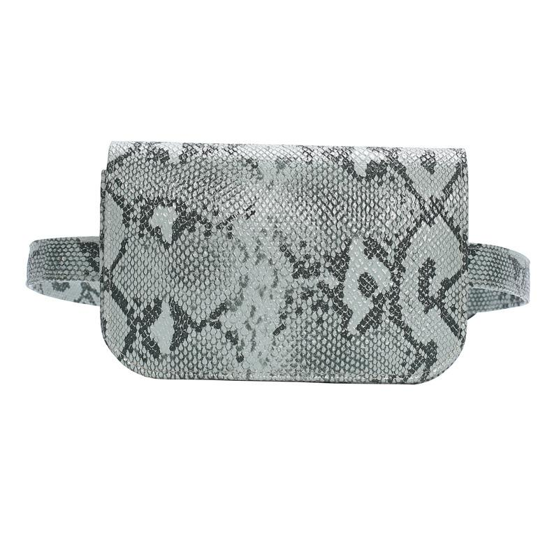 Popular Snakeskin Crossbody Women's Personalized Elegant Fashion European Versatile Small Waist Bag Bulk Belt Bags-1.9