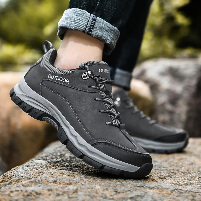 Men's Comfy Non-slip Wear-resistant Sole Hiking Shoes Climbing Sneakers