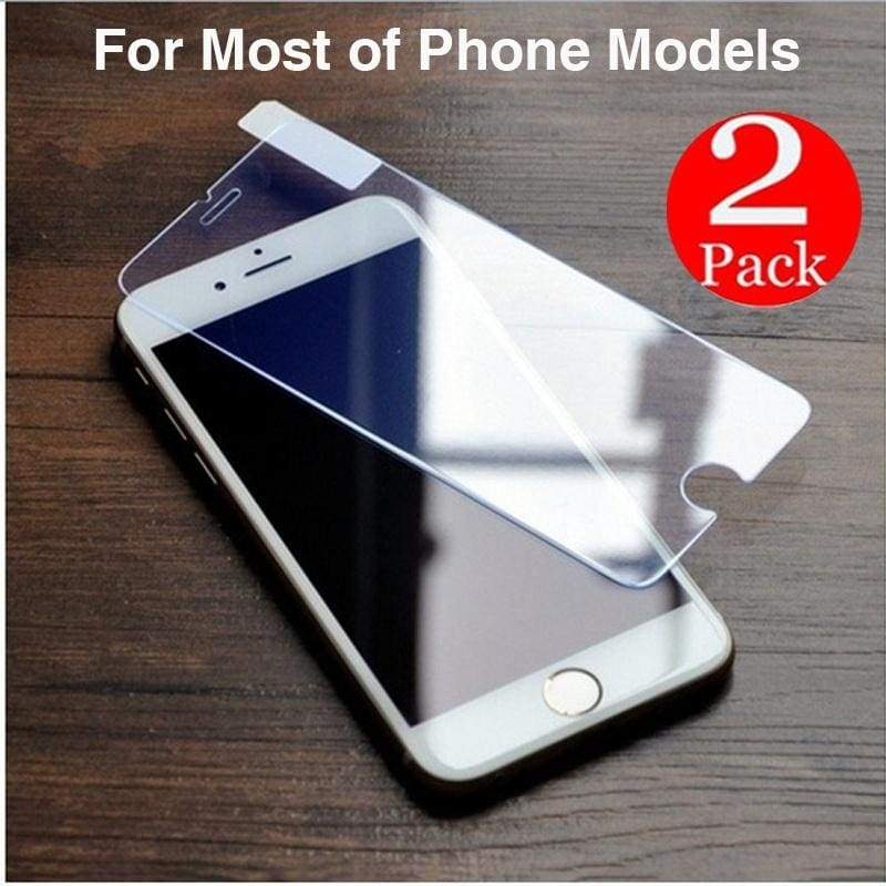 2pcs 9H Hardness Nano-coating Tempered Glass Film Phone  Protector for iPhone X iPhone 8 8 Plus 7 7 Plus 6 6s Plus 5 5s SE Protective Film Screen for Huawei Samsung