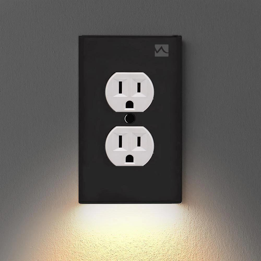 Outlet Wall Plate With Led Night Lights – No Batteries Or Wires