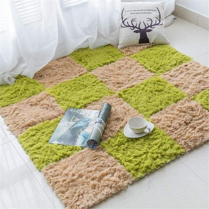 Suede Sponge Mat Stitching Foam Mat Living Room Jigsaw Carpet Full Bed Bed Blanket Home Tatami