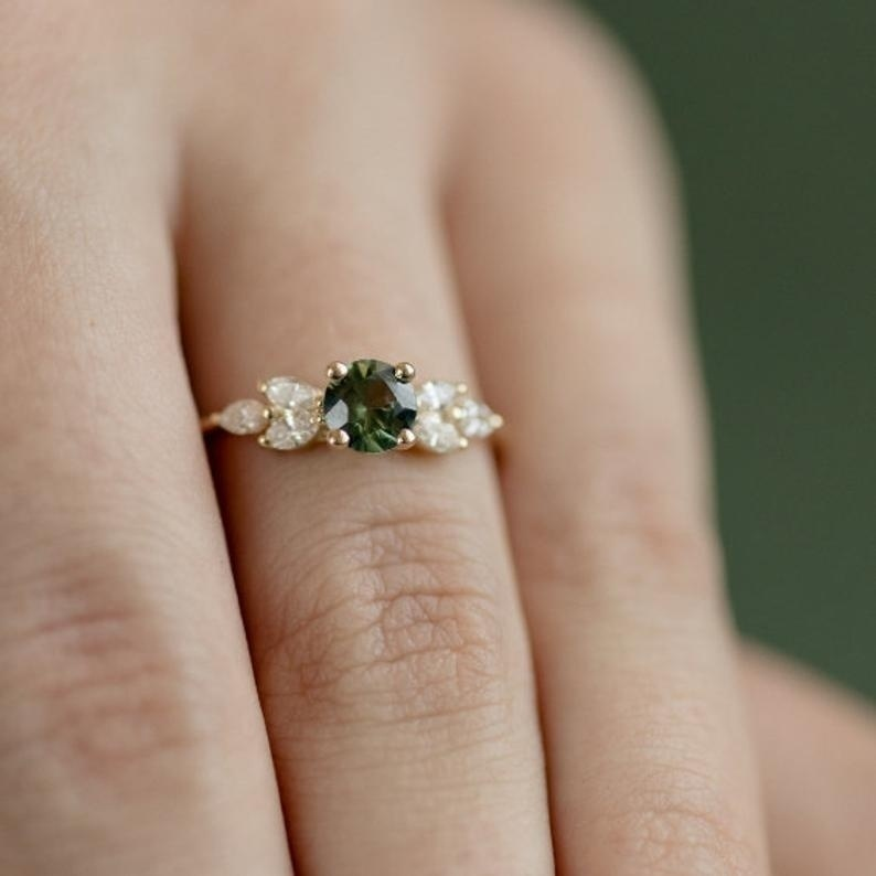 Women 18K Gold Plated Natural Emerald Diamond Ring  Anniversary Proposal Promise Gift Bride Engagement Wedding Jewelry