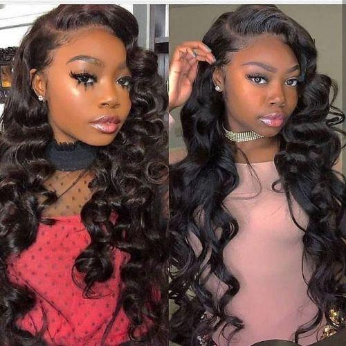 Lace Front Wigs Black Hair 26 inches long hair wave wigs for women