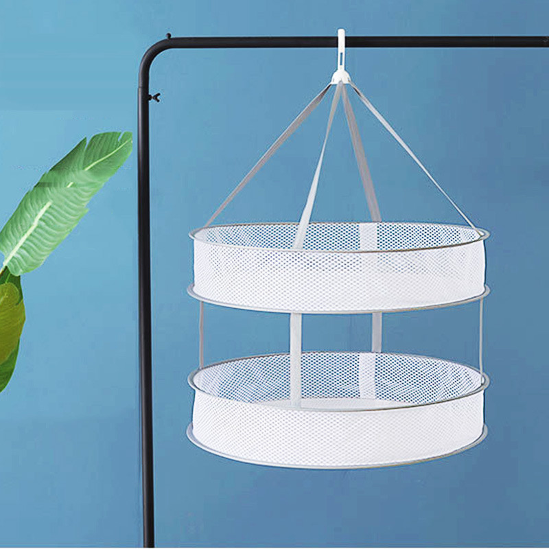 Foldable windproof drying basket