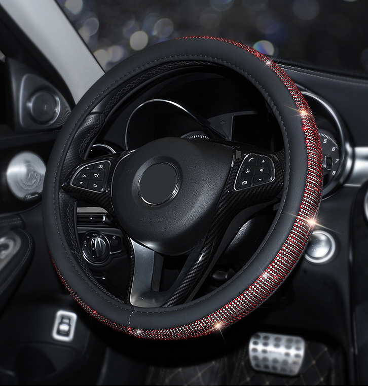 😍!!OUTLET,40% OFF✨Bling Steering Wheel Cover ✨