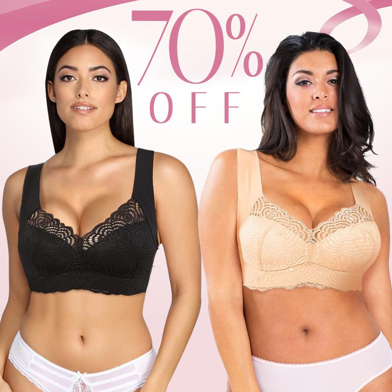 Extra Lift-Ultimate Lift Stretch Full-figure Seamless Lace Cut-out Bra