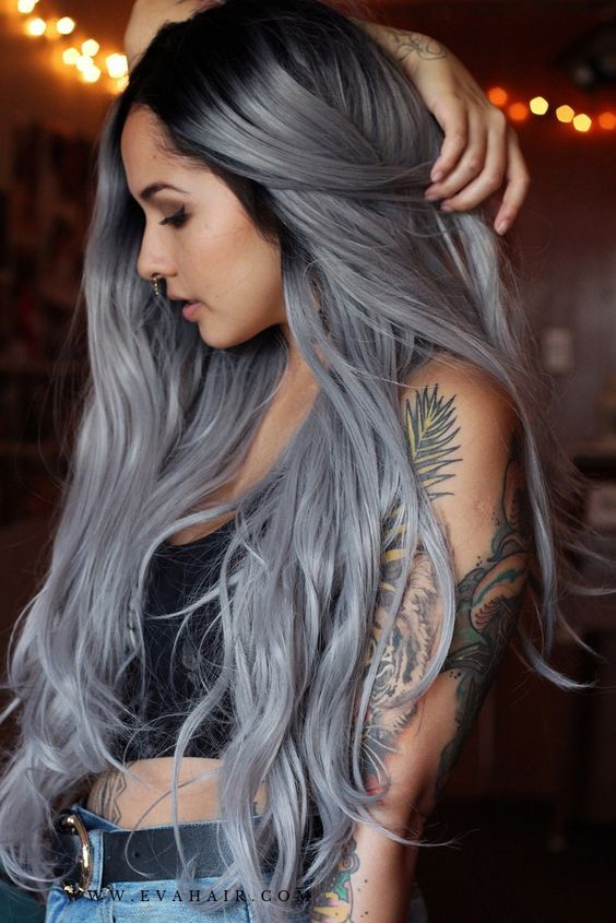 2020 New Gray Hair Wigs For African American Women Wigs For Ladies With Thinning Hair Hair Colour For Grey Hair Grey Hair Color Grey Hair Fashion Icy Grey Hair